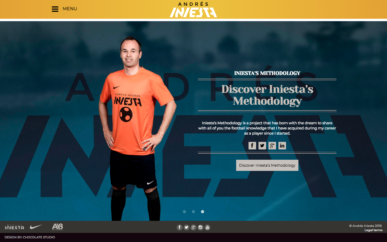 Сайт Андреаса Иньесты